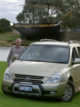Stephen Walker with the Kia Grand Carnival 