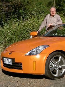 Stephen Walker with the Nissan 350Z Roadster (copyright image) 