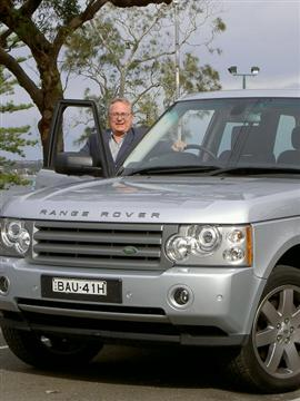 Stephen Walker with the Range Rover Vogue 