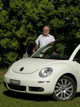 Stephen Walker with the Volkswagen Beetle 10th Anniversary Edition (copyright image) 