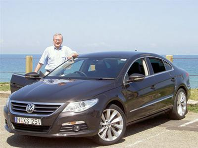 Stephen Walker with the  Volkswagen Passat CC (copyright image)